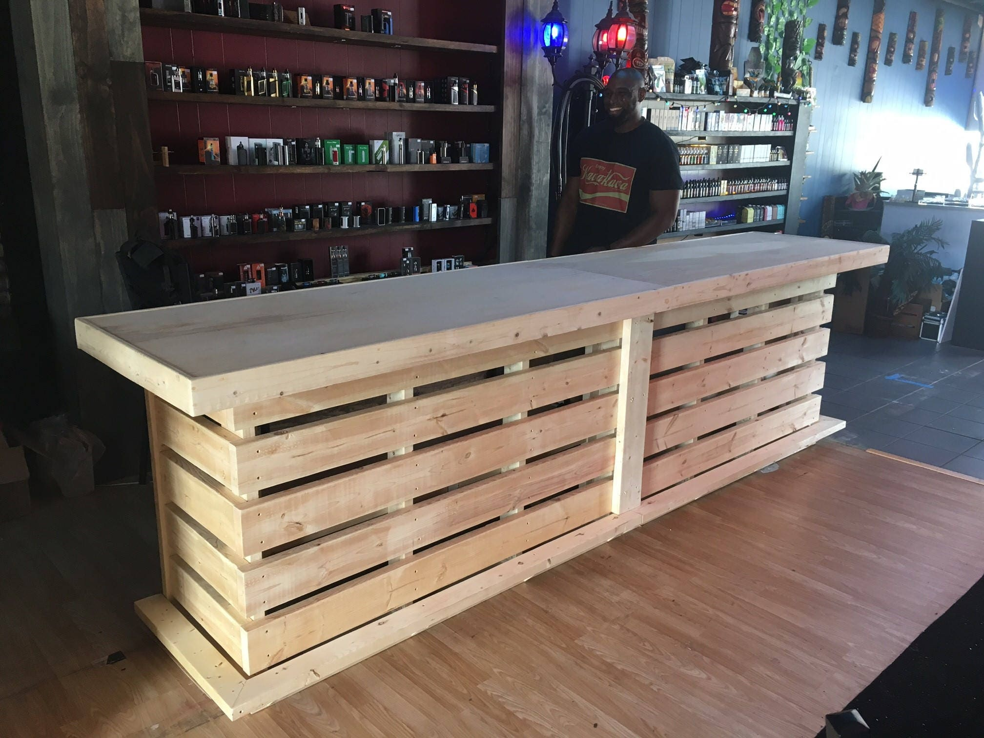 Wondrous The Whoadie Pallet Style Rustic Dry Bar Reception Desk Or Download Free Architecture Designs Embacsunscenecom