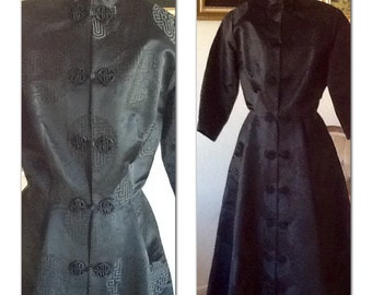 Vintage 1950s New Look Asian Silk dress