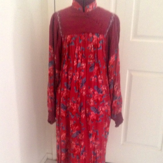 Vintage Hippie Dress Adini Phool Style Berkeley In