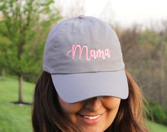 Mama Baseball Cap with Monogram | Ladies Monogrammed Baseball Cap | Multiple Colors | Mother's Day Gift | Personalized Baseball Cap