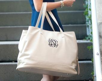 Vegan leather travel bag | Monogrammed Leather Weekender | Monogrammed vegan leather | Leather weekender travel bag | Tassel Travel Bag
