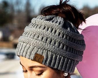 eed6d5a056f731 Messy Bun Beanie | Ponytail Beanie | Mom Bun Hat | Crochet Messy Bun Beanie  | Top Knot Beanie | Bun Hat | Crochet Bun Hat | Messy Bun hat