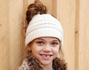 3faf389663e Youth Pom CC Beanie Pom Knit Beanie Kids Hat Crochet