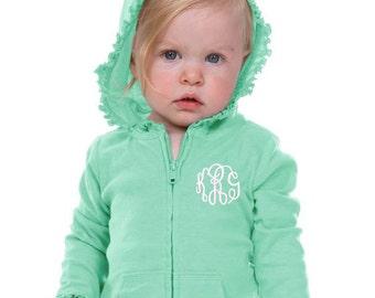 Girls Monogrammed Sweatshirt | Toddler Monogram Sweatshirt | 6M - Girls Size 6 | Infant Monogram Sweatshirt