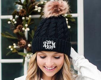 5f35f839c82 Monogrammed Knit Hat