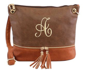 Monogrammed Purse with Tassel| Personalized Handbag | Personalized Tassel Purse | Multiple Colors | Gift Under 30