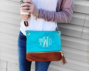 Crossbody Purse Gift for her Personalized gift Purse Small Handbag Monogrammed Kendall Purse Personalized bag Monogram Tassel Bag