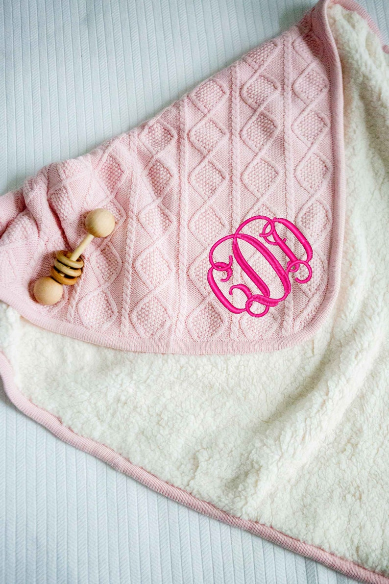 Embroidered Personalized Monogrammed Baby Blanket Stroller Flowers Many Designs