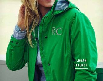 Ladies Monogrammed Logan Rain Jacket | Charles River Personalized Rain Coat | Multiple Colors