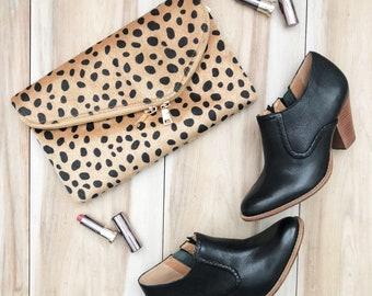Monogrammed Cheetah Clutch Purse | Leopard Envelope Clutch Purse | Personalized Clutch