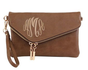 Monogrammed Clutch Purse | Envelope Clutch Purse | Bridesmaid Gift | Mother's Day Gift | Personalized Clutch | Personalized Bridesmaid Gift