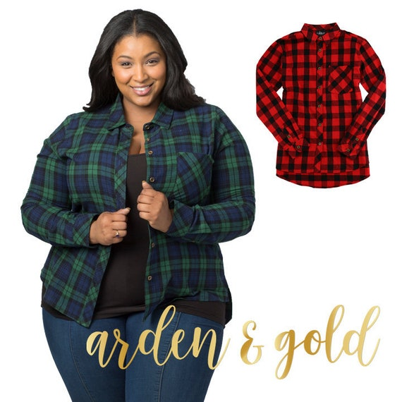 Monogram Buffalo Plaid Flannel Shirt Monogram Button Up  c780d41aacd