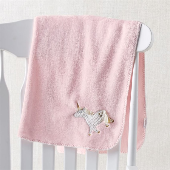 b65aa035c2 Embroidered Unicorn Baby Blanket Monogrammed Fleece Baby