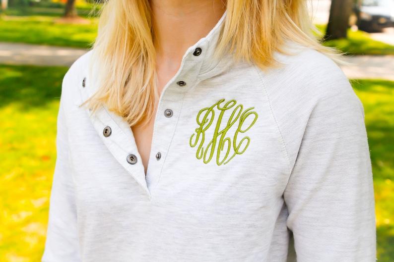 Monogrammed Pullover Sweatshirt Monogrammed Bridesmaid Gift Monogrammed Womens Quarterzip Monogrammed Popover Sweatshirt with Pockets