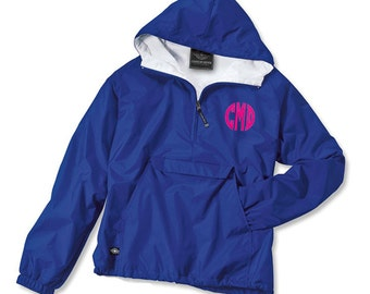 Monogrammed Youth Half Zip Rain Jacket | Kids Rain Jacket | Charles River Personalized Popover | Boys Rain Jacket | Back To School |