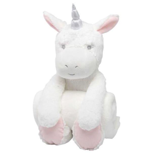 Bedtime Unicorn Huggie Personalized Baby Blanket With Plush Etsy