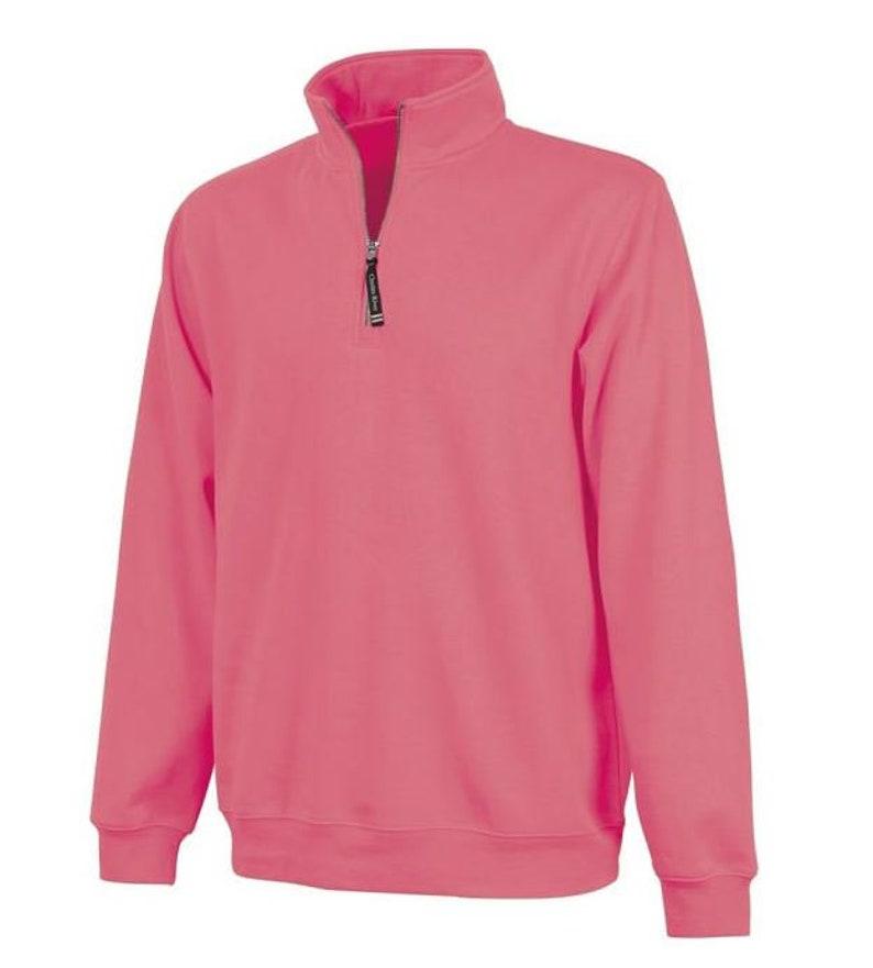 Ladies Monogram Zip Up Monogrammed Fleece Personalized Quarter Zip Monogram Pullover Quarter Zip with Pockets