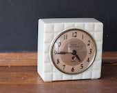 Vintage Sheldon Self Starting Alarm Clock, Vintage Alarm Clock, Art Deco Clock