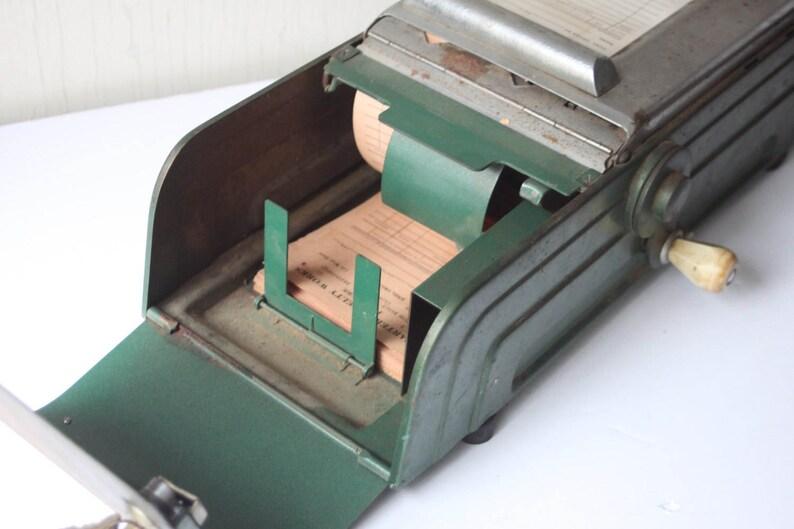 Antique Store Receipt Box Printer Machine & Cash Box from Clock Work  Company with Unused Receipts, Receipt Generator