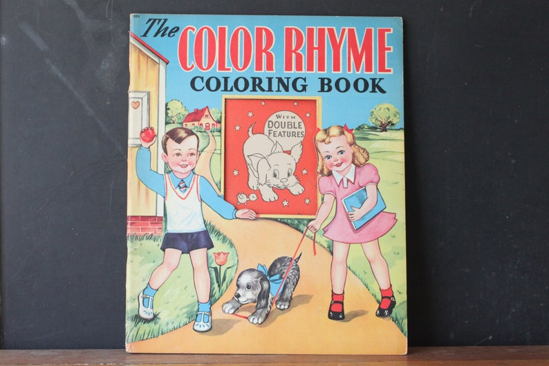 Vintage Whitman Coloring Paint Book, Tracing Book to Paint and Color