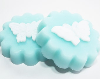 Butterfly Soap, Glycerin Melt and Pour, Soap Gift Set, Robin's Egg Blue, Vegan Gifts, Palm Free Soap, Blue Bath Soap, Decorative Soap Sets