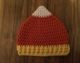 Candy Corn Crochet Hat (Child & Adult Sizes)
