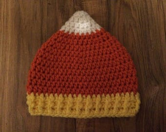 Candy Corn Crochet Hat (Baby & Toddler Sizes)
