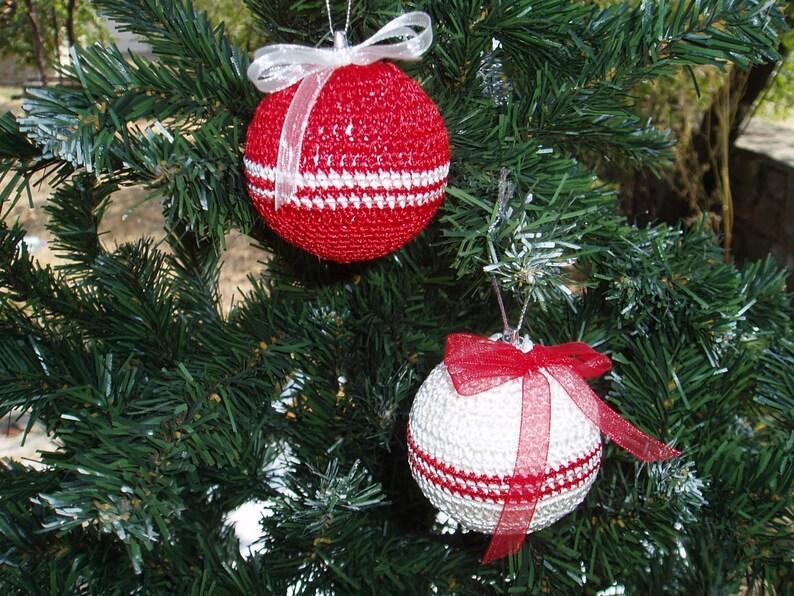 2 Palle Di Natale Alluncinetto Decorazione Di Natale Etsy