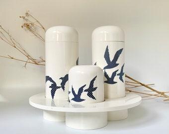 Birds on a Wire Kitchen Cruet Set Mint