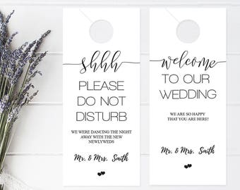 Superior Wedding Door Hanger Template, Please Do Not Disturb Door Hanger, Wedding  Itinerary, Rustic Welcome Bag, Door Hanger Printable, DIY You Print
