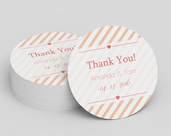 nautical wedding thank you stickers template navy anchor etsy