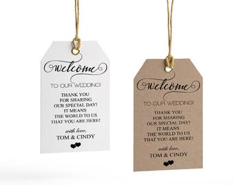 wedding welcome tag template wedding welcome bag tag wedding etsy