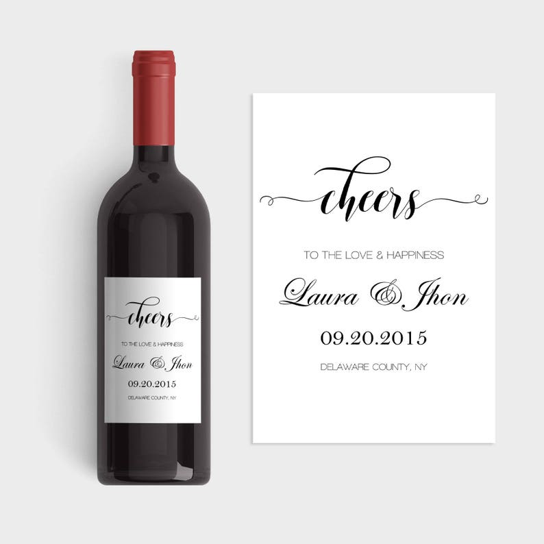 Wedding Wine Labels.Wedding Wine Labels Wedding Wine Label Template Cheers Wine Label Templates Calligraphy Wine Label Custom Wine Labels Diy You Print