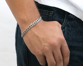 Men's Bracelet - Men's Silver Bracelet - Men's Jewelry - Men's Chain Bracelet - Men's Vegan Bracelet - Men's Gift - Boyfriend Gift - Guys