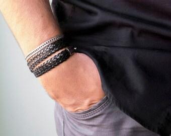 Men's Bracelet Set - Set Of 2 Bracelets For Men - Men's Vegan Bracelet - Men's Jewelry - Men's Gift - Husband Gift - Boyfriend Gift - Guys