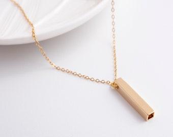 Gold Geometric Necklace - Gold Geometric Pendant  - Delicate Necklace - Minimal Necklace - Minimalist Jewelry - Classic Necklace