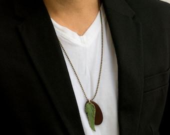 Men's Necklace - Men's Brass Necklace - Men's Jewelry - Men's Gift - Boyfriend Gift - Husband Gift - Guys Jewelry - Guys Necklace