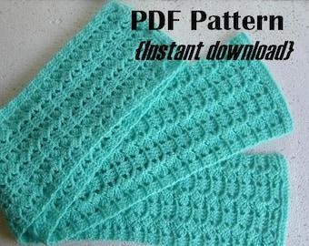 Crochet Pattern, Slant n Stripe Scarf pattern, INSTANT DOWNLOAD PDF, women's scarf pattern, beginner crochet pattern