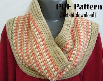 Crochet Pattern, Harmony cowl, INSTANT DOWNLOAD PDF, Infinity scarf pattern, Snood, crochet cowl pattern, unisex cowl pattern, moss stitch