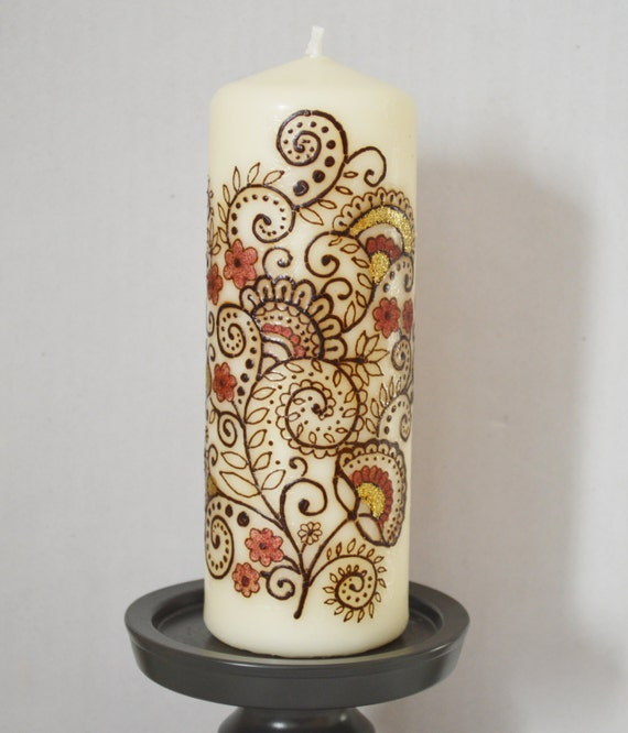 Ready To Ship Handcrafted Henna Candle Flower Garden Candle Etsy
