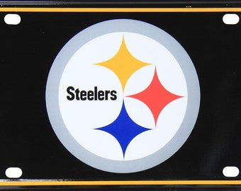 233e95b4318 Pittsburgh Steelers Novelty Metal License Plate