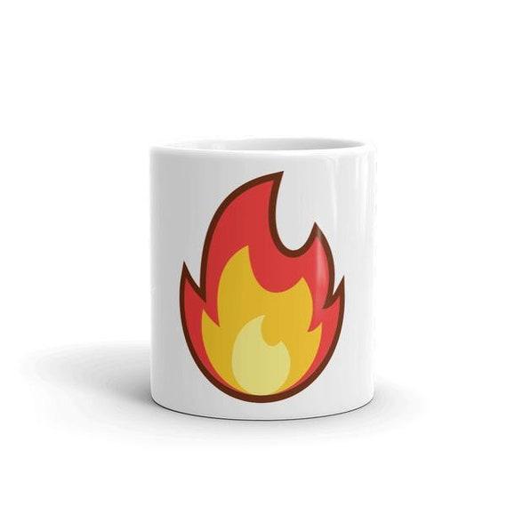 Fire Emoji Coffee Mug