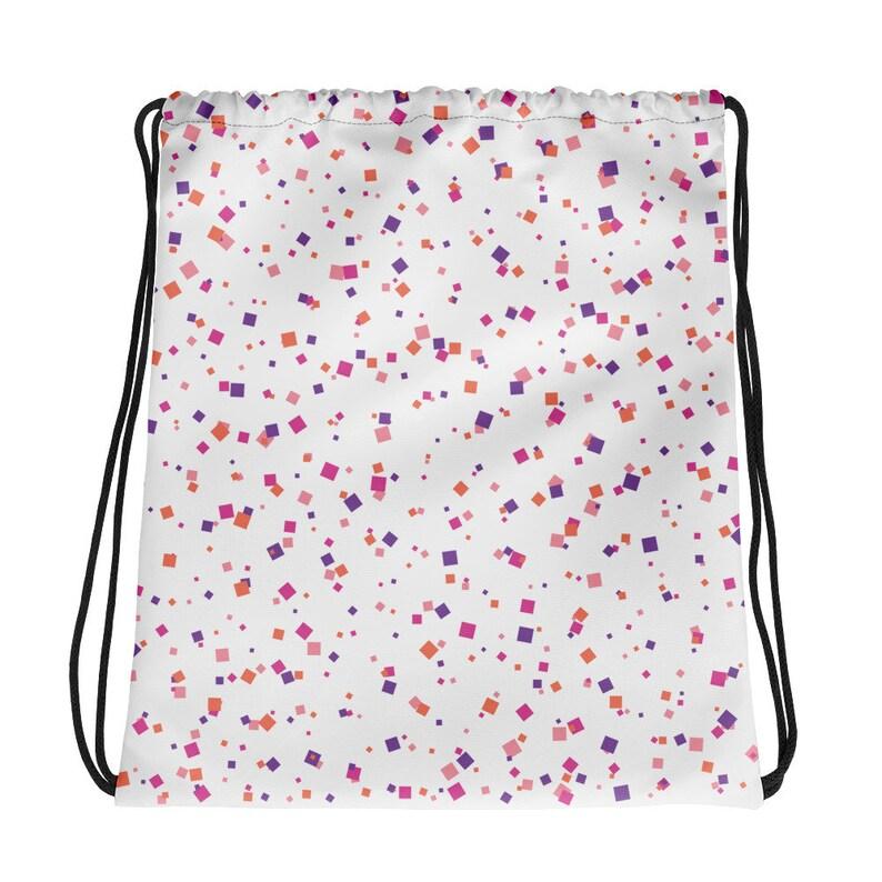 Colorful Confetti Background Drawstring bag