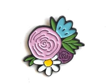 Enamel Pin // Flower Pin //  Floral Pin // lapel pin