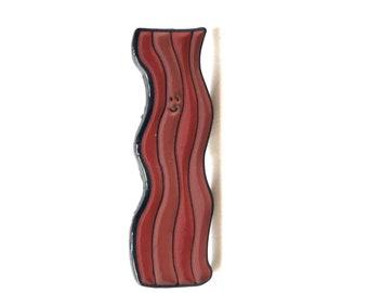 Bacon Enamel Pin // Bacon Pin // Bacon Badge
