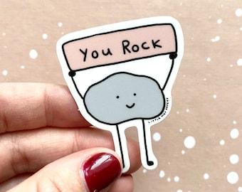 You Rock vinyl sticker // cute sticker // you rock sticker