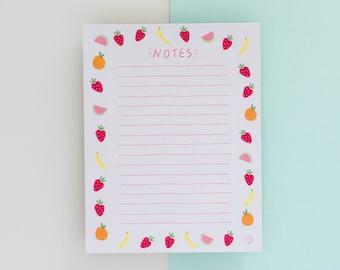 Notepad // Fruit Notepad  // Watercolour notepad