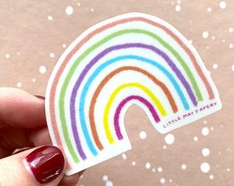 Rainbow Vinyl Die Cut Sticker // Vinyl Sticker