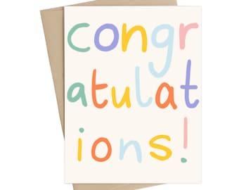 Congratulations cad // congrats // graduation card // wedding card