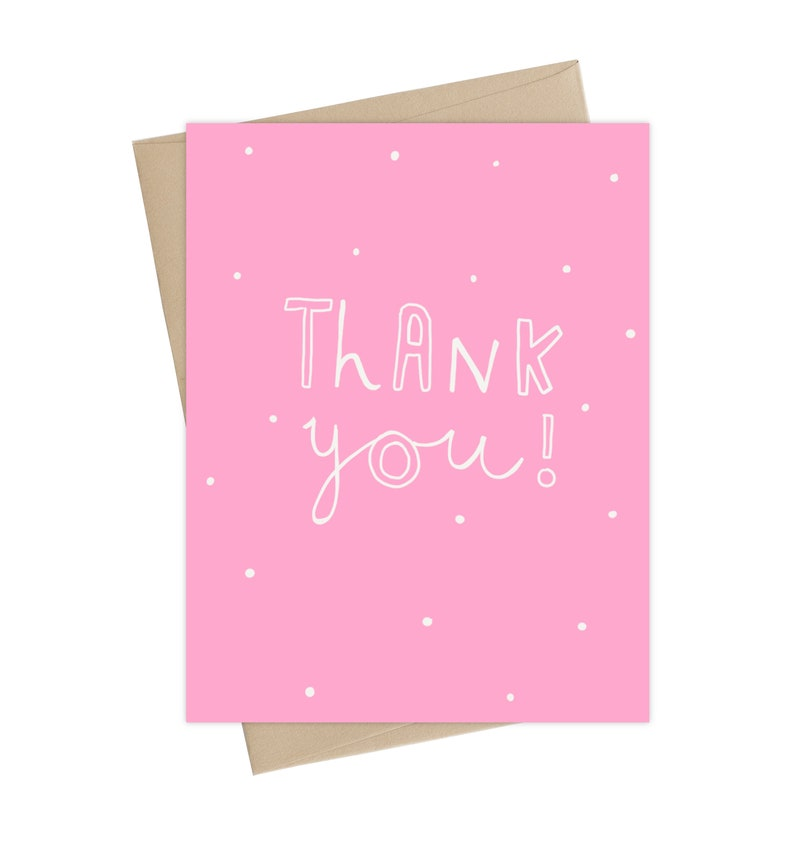 Thank You Card // Pink Thank you Card image 0
